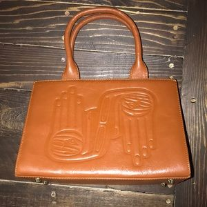 Dorothy Grant Leather embossed Hand bag